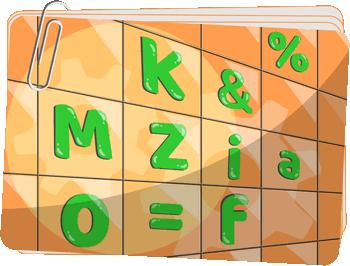 UŁÓŻ ZNAKI W TABELI gry na trening skupiania uwagi - Gry rozwijające koncentrację przez układanie liter i liczb w tabeli - Gry z liczbami i literami na koncentrację