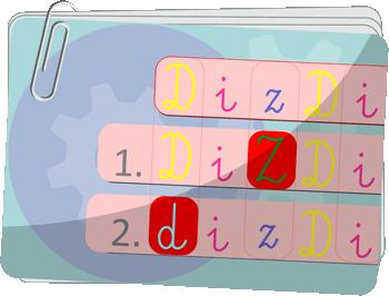 ZNAJDŹ RÓŻNICE w SZEREGACH LITER - rozwój umiejętności skupiania uwagi - Wspieranie koncentracji uwagi przez wytężanie wzroku i szukanie różnic - Gry z liczbami i literami na koncentrację