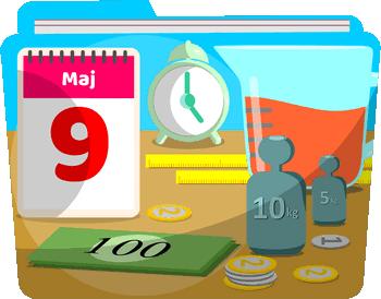 Matematyka w praktyce - 4, 5 i 6 klasa - Kalendarz, miara, waga, skala, prędkość - Zadania z matematyki