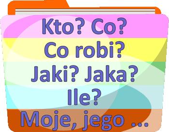 Części mowy - Odmienne i nieodmienne części mowy - Gry i zabawy online z języka polskiego