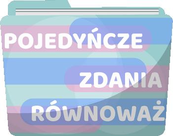 Typy wypowiedzeń - przekształcanie konstrukcji składniowych - Gry i zabawy online z języka polskiego