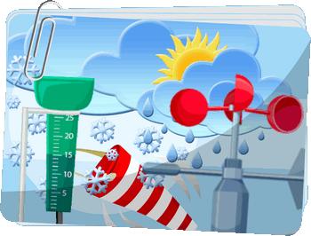 Pogoda - Zjawiska pogodowe oraz narzędzia do pomiaru pogody - Ćwiczenia interaktywne z przyrody dla klasy 4